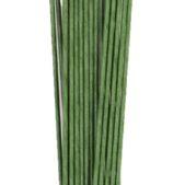 18g dark green floral wire