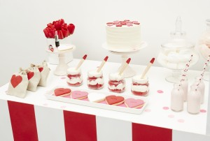 Valentine's day dessert table