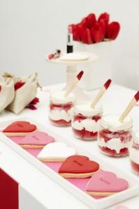 Red velvet cake pots