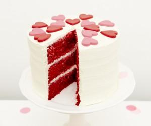 Red velvet Valentine's cake