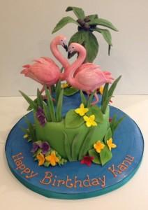 Flamingo tropical cake Cakes by Robin