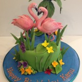 Tropical Flamingo cake