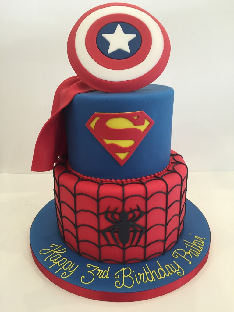 Superhero Birthday Cakes