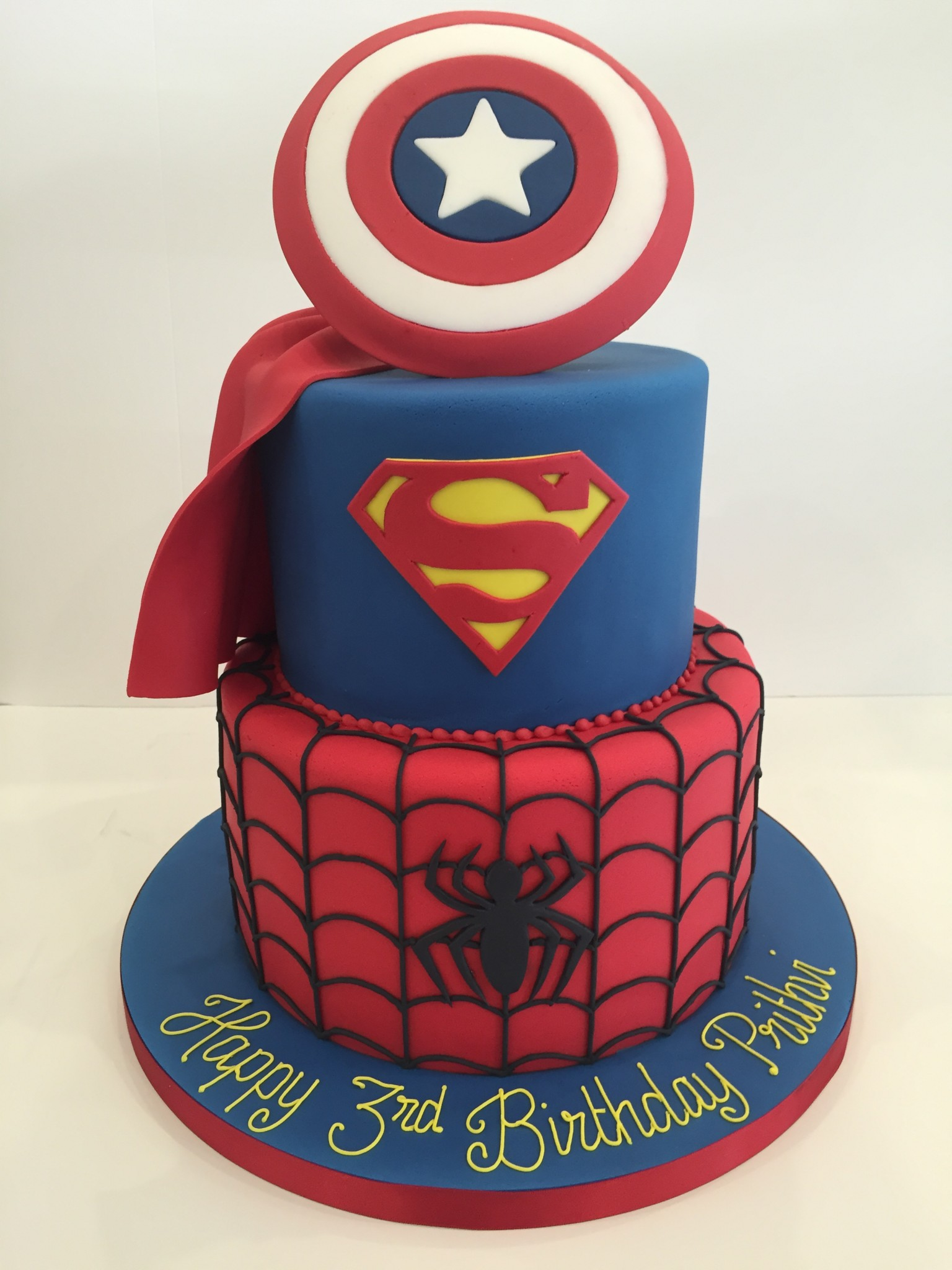 Outstanding Superhero Birthday Cakes Cakes By Robin Personalised Birthday Cards Rectzonderlifede
