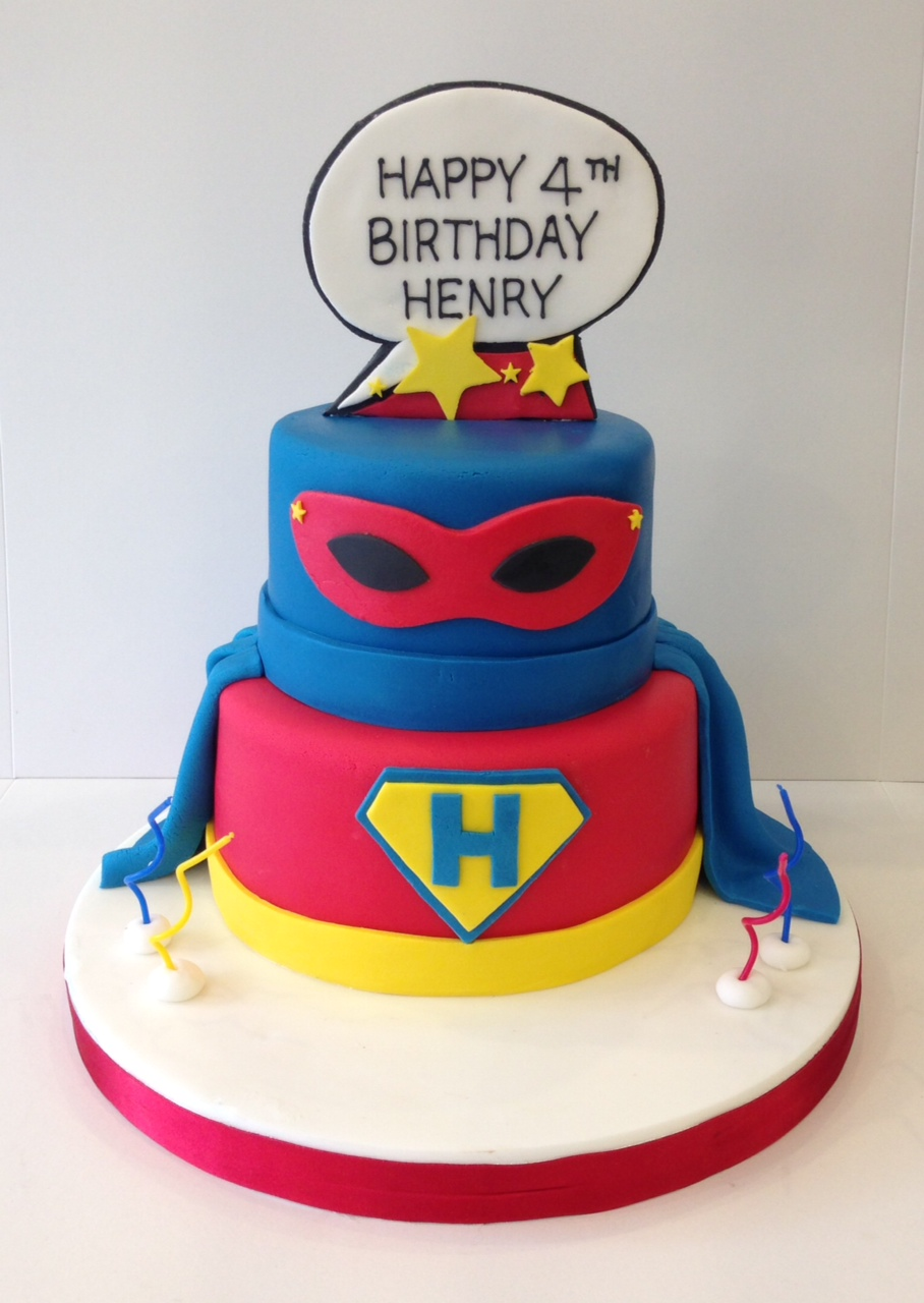 Stupendous Superhero Birthday Cakes Cakes By Robin Personalised Birthday Cards Rectzonderlifede