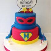 2 tier Superhero Pop Art