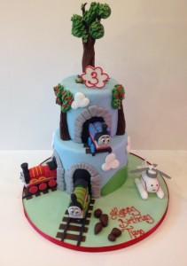 Thomas the Tank Engine and friends birthday cake