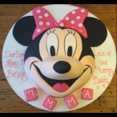 2D Minnie Mouse head cake