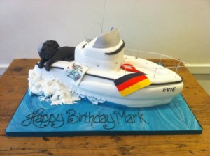 3D boat birthday cake