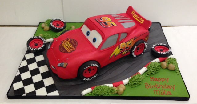 Lightening McQueen And Cars Birthday Cakes