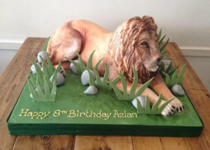 3D Lion birthday cake Cake in the shape of a Lion
