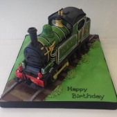 3D Steam Train birthday cake