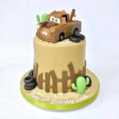 4th birthday cake – cars