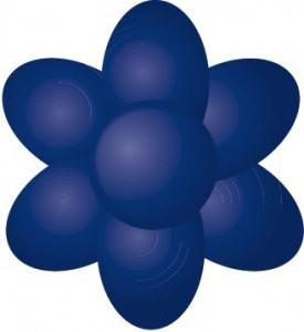 navy blue sugarflair paste
