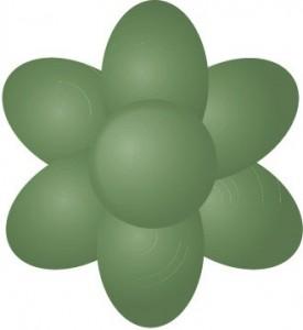green sugarflair paste
