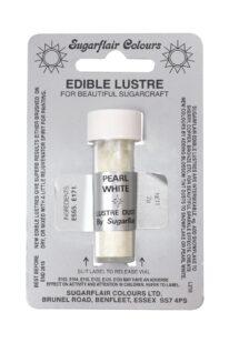 Pearl White Sugarflair Edible Lustre Colour