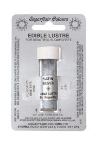 satin silver lustre dust
