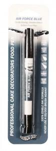 blue food pen