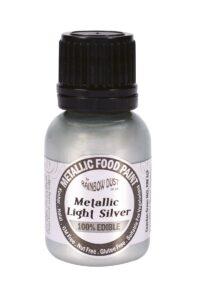 silver edible paint