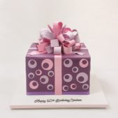 60th Birthday cake – Parcel themed