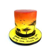 70th birthday Africa themed cake