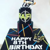 8th Birthday Laser Gun Cake