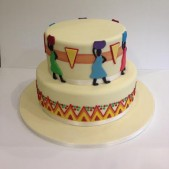 Africa material inspired cake