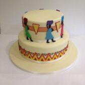 Africa material inspired cake