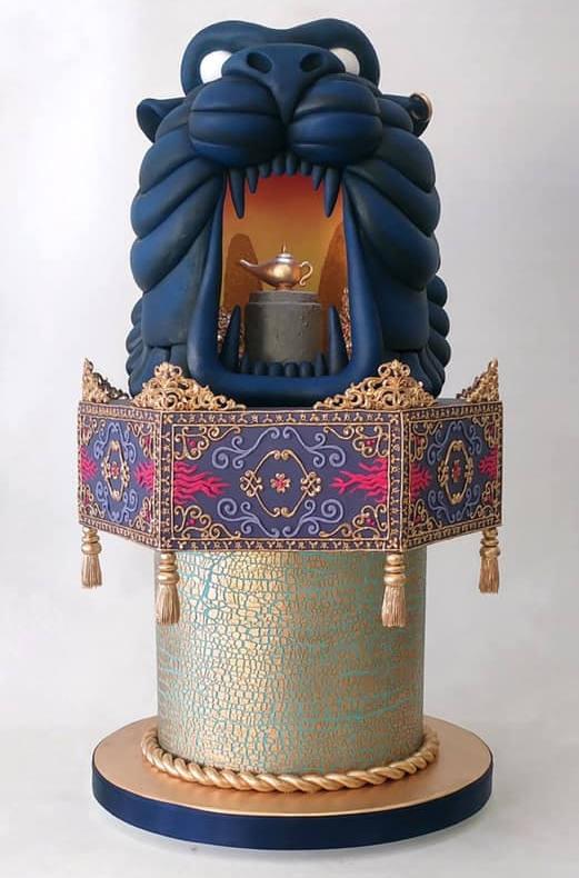 Aladdin themed cake image