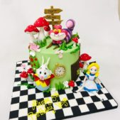 Alice and Wonderland 5th birthday cake