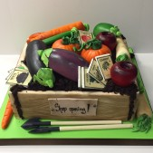 Allotment gardening cake