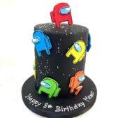 Among Us themed cake