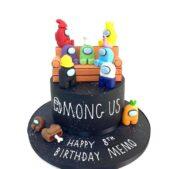 Among Us themed cake image