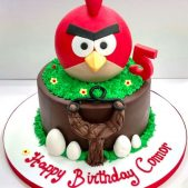 Angry Birds Cake – 5th Birthday