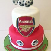 Arsenal 2 tier cake