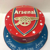 Arsenal Birthday Cake
