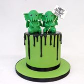 Baby Cthulu themed cake