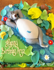 Jungle book cake Baloo Bear