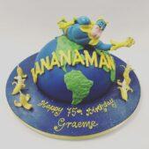Banana Man Birthday Cake Image