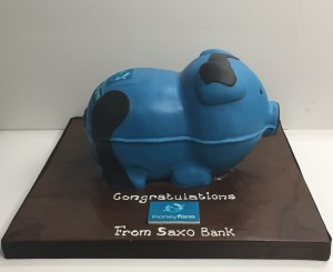 Corporate cake for a bank brand