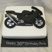 Flat model motorbike