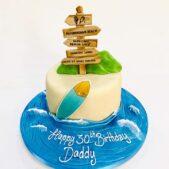 Beach themed cake 30th Birthday Cake