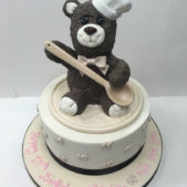 Bear Cook Birthday Cake
