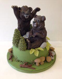 Relaistic bear cake
