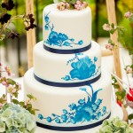 Royal Copenhagen china wedding cake