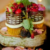 Wedding cupcakes with fresh fruit