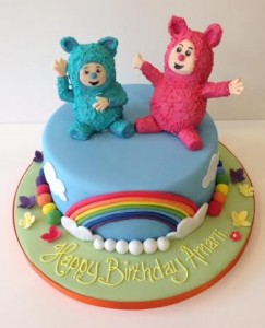 Billy and Bam Bam cake Baby TV birthday cake