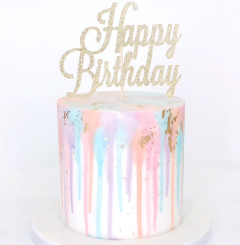 Birthday Drip Colour Cake