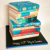 Book themed birthday cake