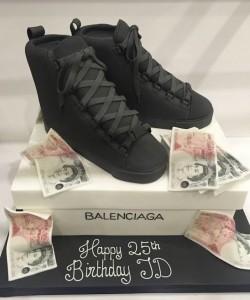 Balenciaga shoe birthday cake